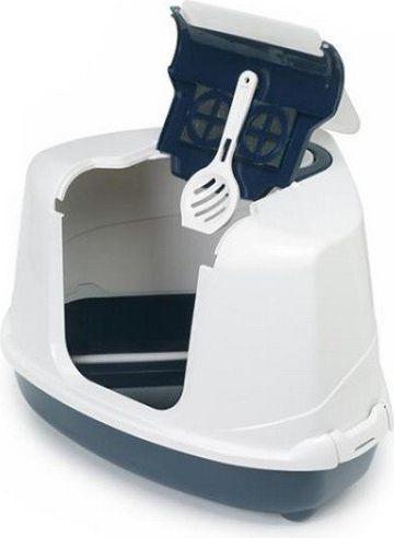 YARRO Moderna Toaleta narożna z filtrem granatowa