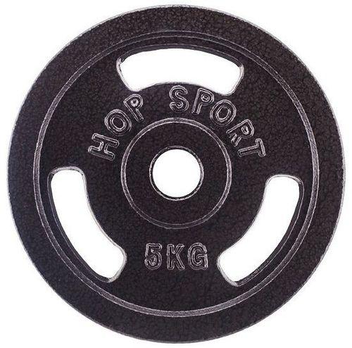 Hop-Sport Obciążenie żeliwne 5 kg czarne (13339-uniw)
