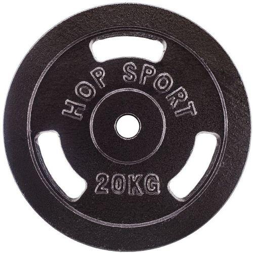Hop-Sport Obciążenie żeliwne 20 kg czarne (13311-uniw)