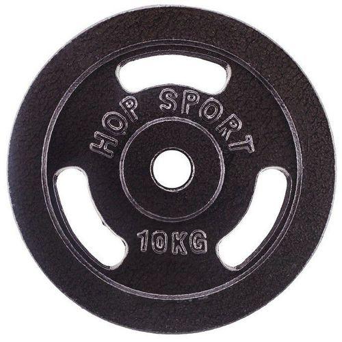 Hop-Sport Obciążenie żeliwne 10 kg czarne (13305-uniw)