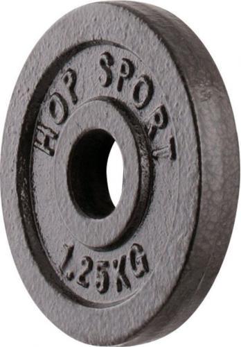Hop-Sport Obciążenie żeliwne 1,25 kg czarne (13340-uniw)