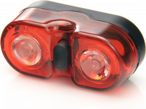 MacTronic Lampa rowerowa tylna bateryjna (2x AAA), 18 lm, WALL'E (L-BPM-2SL)
