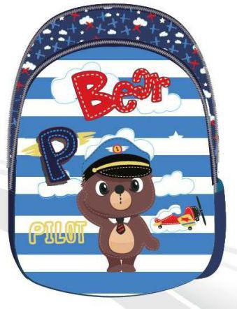 Eurocom Plecak dziecięcy Captain Bear biało-niebieski (241053)