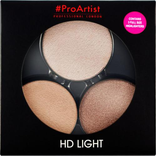 FREEDOM  ProArtist Eyeshadow Light Packs HD Lit 2 Zestaw 3 rozświetlaczy 6g