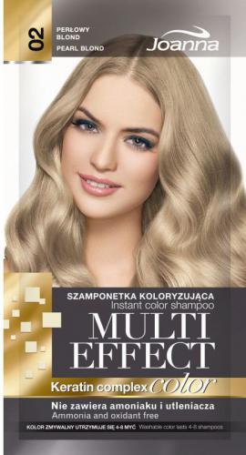 Joanna Multi Color Effect Keratin Complex - Szamponetka 02 Perłowy Blond 35g