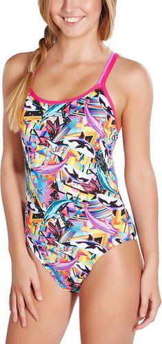 Speedo strój kąpielowy młodzieżowy Flipturns Double Crossback r. 36 (810626B485)