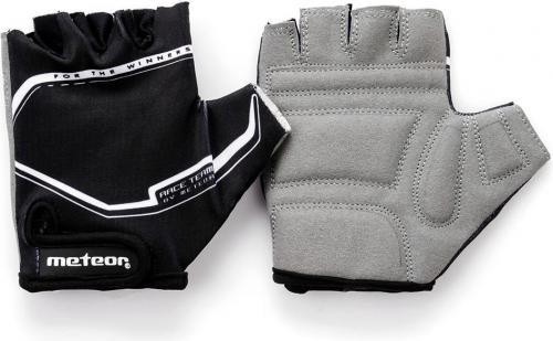 Meteor Rękawiczki rowerowe czarno-szare r. XXS (23386)