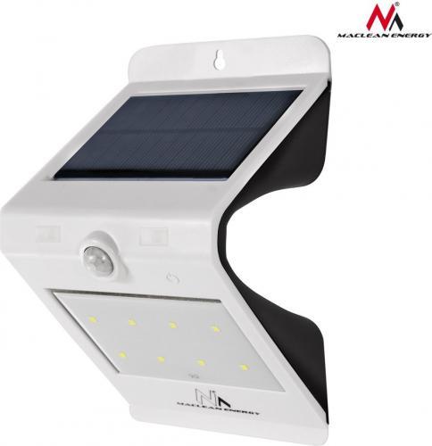 Maclean Lampa solarna ścienna 10SMD z czujnikiem (MCE169)