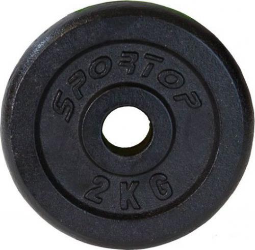 SPORTOP obciążenie czarne żeliwne 2 kg fi28