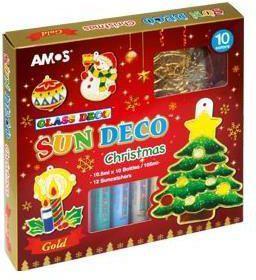 Fiorello Farby witrażowe 10 kolorów+ witraże christmas AMOS (249091)