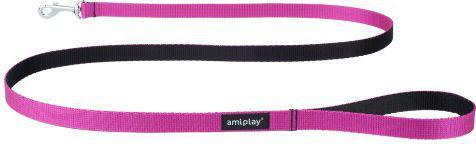 Ami Play Smycz   Twist S 150 x 1cm Różowy