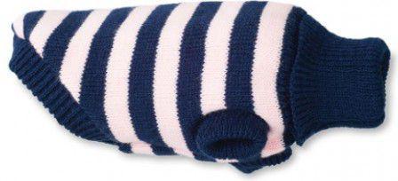 Ami Play Sweterek dla psa Glasgow 19 cm Paski różowe