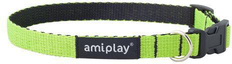 Ami Play Obroża regulowana Twist S 20-35 x 1cm Zielony