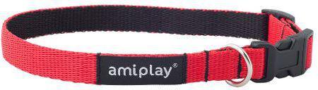 Ami Play Obroża regulowana Twist M 25-40 x 1.5cm Czerwony