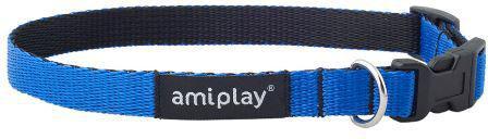 Ami Play Obroża regulowana Twist L 35-50 x 2cm Niebieski