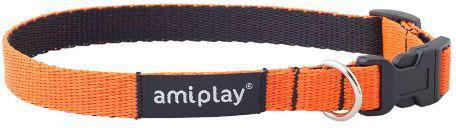 Ami Play Obroża regulowana Twist L 35-50 x 2cm Pomarańczowy