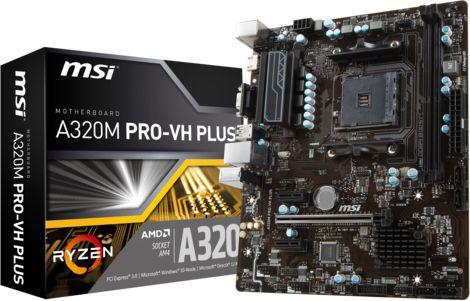 Płyta główna MSI A320M PRO-VH PLUS, A320, DDR4, USB3.1, SATA3, HDMI, uATX (A320M PRO-VH PLUS)