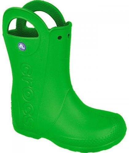 Crocs Kalosze Handle It Kids ciemno zielone - (12803) 33-34