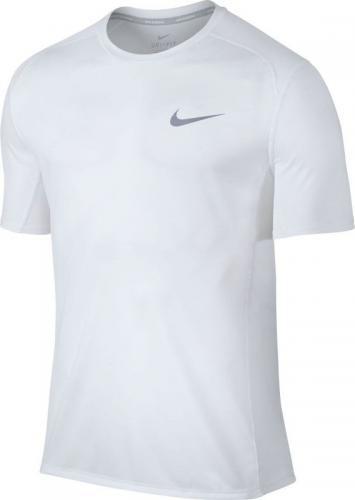 Nike Koszulka Biegowa Dry Miler Top M Biały r. XXL (833591-100*XXL)