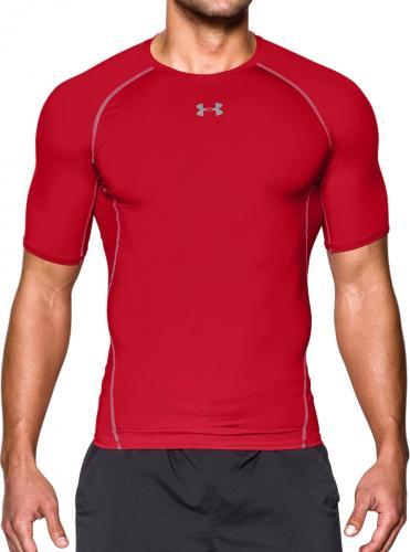 Under Armour Koszulka termoaktywna HeatGear Compression Shortsleeve M czerwona r. L (1257468-600)