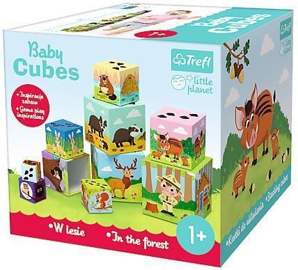 Trefl Klocki Baby cubes - W lesie - Little Planet