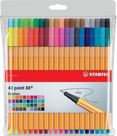 Stabilo Cienkopis Point 88 40 kolorów etui (241386)