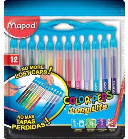 Maped Flamastry Colorpeps Longlife Innovation 12 kolorów (241380)