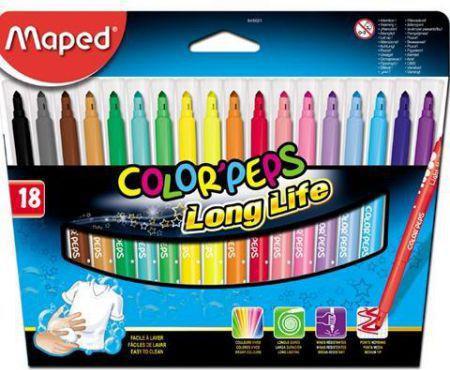 Maped Flamastry Colorpeps trójkątne 18 kolorów (205571)