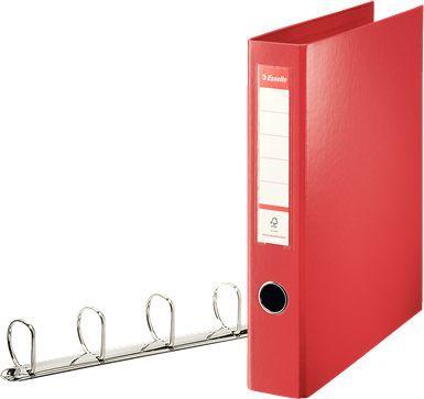 Segregator Esselte 4-ringowy A4 60mm czerwony (82403)