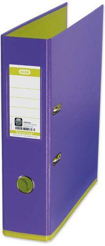 Segregator Elba Colour dźwigniowy A4 80mm fioletowy (E10489VI/GH)