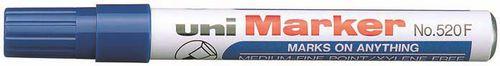 Uni Mitsubishi Pencil MARKER PERMA.OKR.KOŃ.NIEBIESKI MARKER PERMANENTNY (520N)
