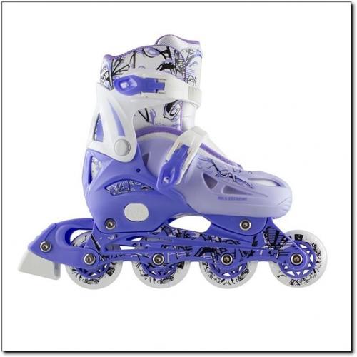 NILS Extreme Łyżworolki płoza hokejowa NH0320A set 4w1 niebieskie r. 31-34
