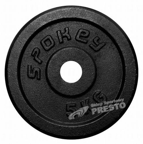 Spokey SINIS - Obciązenie żeliwne; 5 kg - 84422
