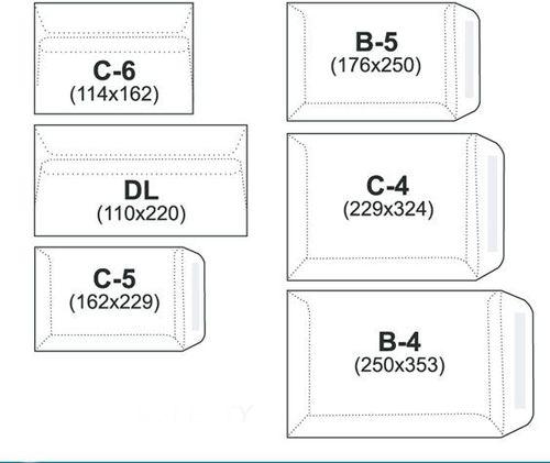 NC Koperty KOPERTA C-5 BIAŁA SK 25SZ. (31421020/25)
