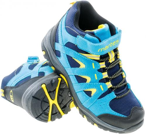 Martes Buty dziecięce Dunland Mid Jr NAVY/LIGHT BLUE/LIME YELLOW roz. 28