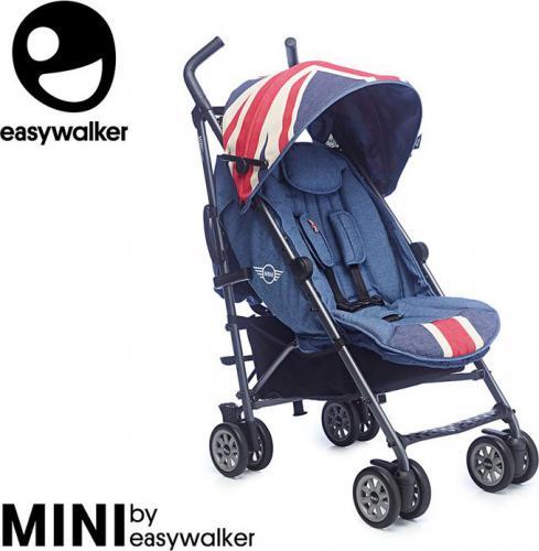 Wózek Easywalker MINI by Easywalker Wózek spacerowy z osłonką przeciwdeszczową 6,5kg Union Jack Vintage - EMB10021