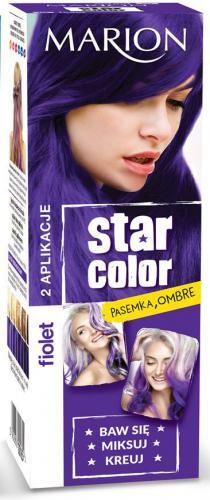 Marion Star Color Krem koloryzujący nr 165 Fiolet 2x35ml