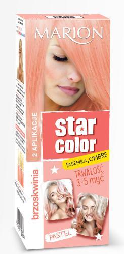 Marion Star Color Pastel Krem koloryzujący Brzoskwinia  2x35ml