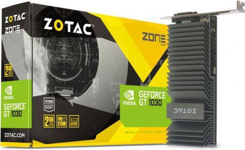 Karta graficzna Zotac GT 1030 ZONE Edition Low Profile 2GB GDDR5 (64 bit), DVI-D, HDMI, BOX (ZT-P10300B-20L)