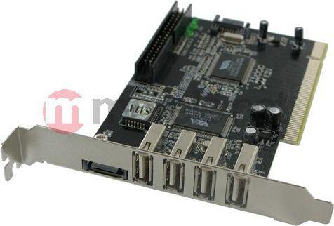 Kontroler 4World 4x USB 2.0 + 2x SATA + 1x IDE na PCI 04613