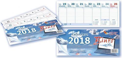 Aniew Kalendarz 2018 Biurkowy poziomy dwustronny (250797)