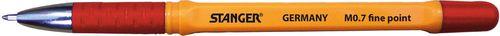 Stanger Długopis Softgrip czerwony 0.7
