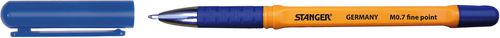 Stanger Długopis Softgrip niebieski 0.7