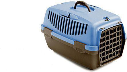 STEFANPLAST Transporter GULLIVER 1 z plastikowymi drzwiczkami szarobrązowy/błękitny