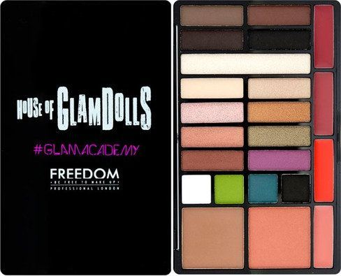 FREEDOM  Zestaw do makijażu Glamacademy Look Palette Exotica Doll 24g