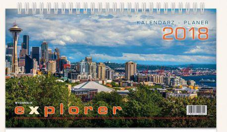 TELEGRAPH Kalendarz 2018 Biurowy Explorer (246242)