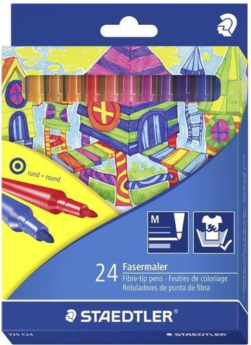 Staedtler Flamastry szkolne NC 24 kolory (226503)