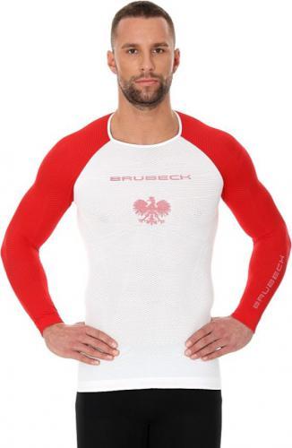 Brubeck Koszulka męska 3D Husar PRO z długim rękawem biało-czerwona r. S (LS13190)