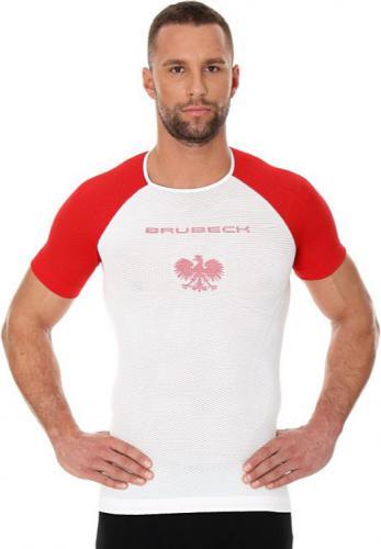 Brubeck Koszulka męska 3D Husar PRO z krótkim rękawem biało-czerwony r. S (SS12070)