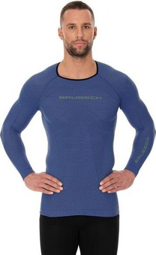 Brubeck Koszulka męska 3D Run PRO z długim rękawem niebieska r. S (LS13000)